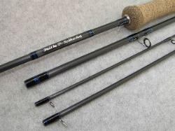 Custom fly rod grip, label area & guide finish - Click to enlarge